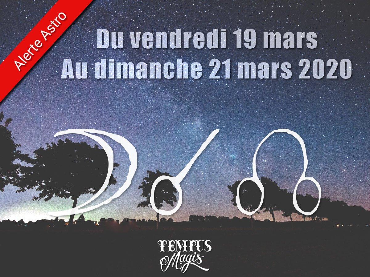 Conjonction Lune / Noeud lunaire Nord mars 2021