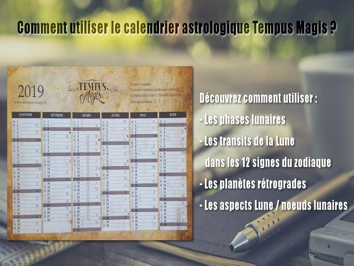 Calendrier astrologique Tempus Magis 2019