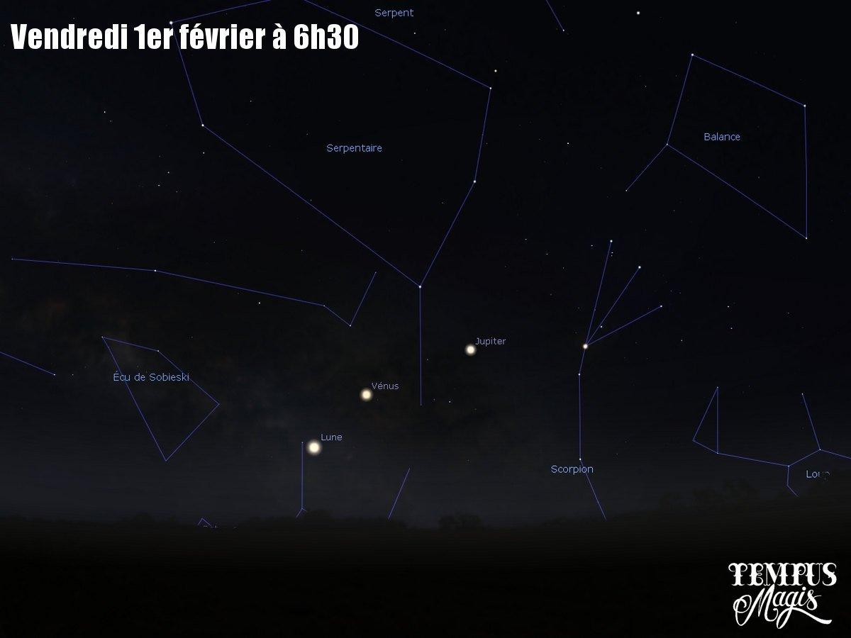 Observation Lune - Vénus - Jupiter