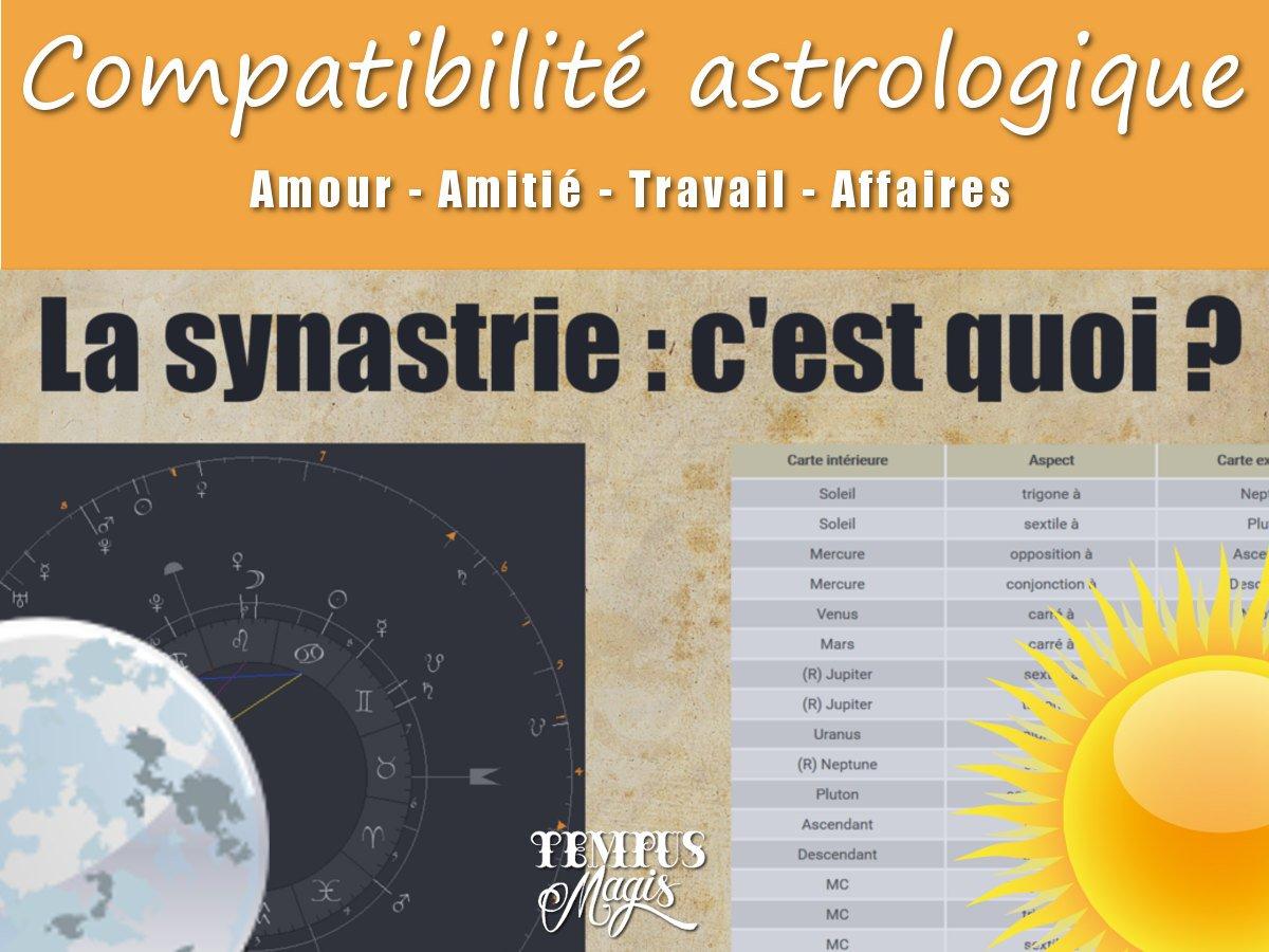 Compatibilité amoureuse - Comparaison de thème astrologique