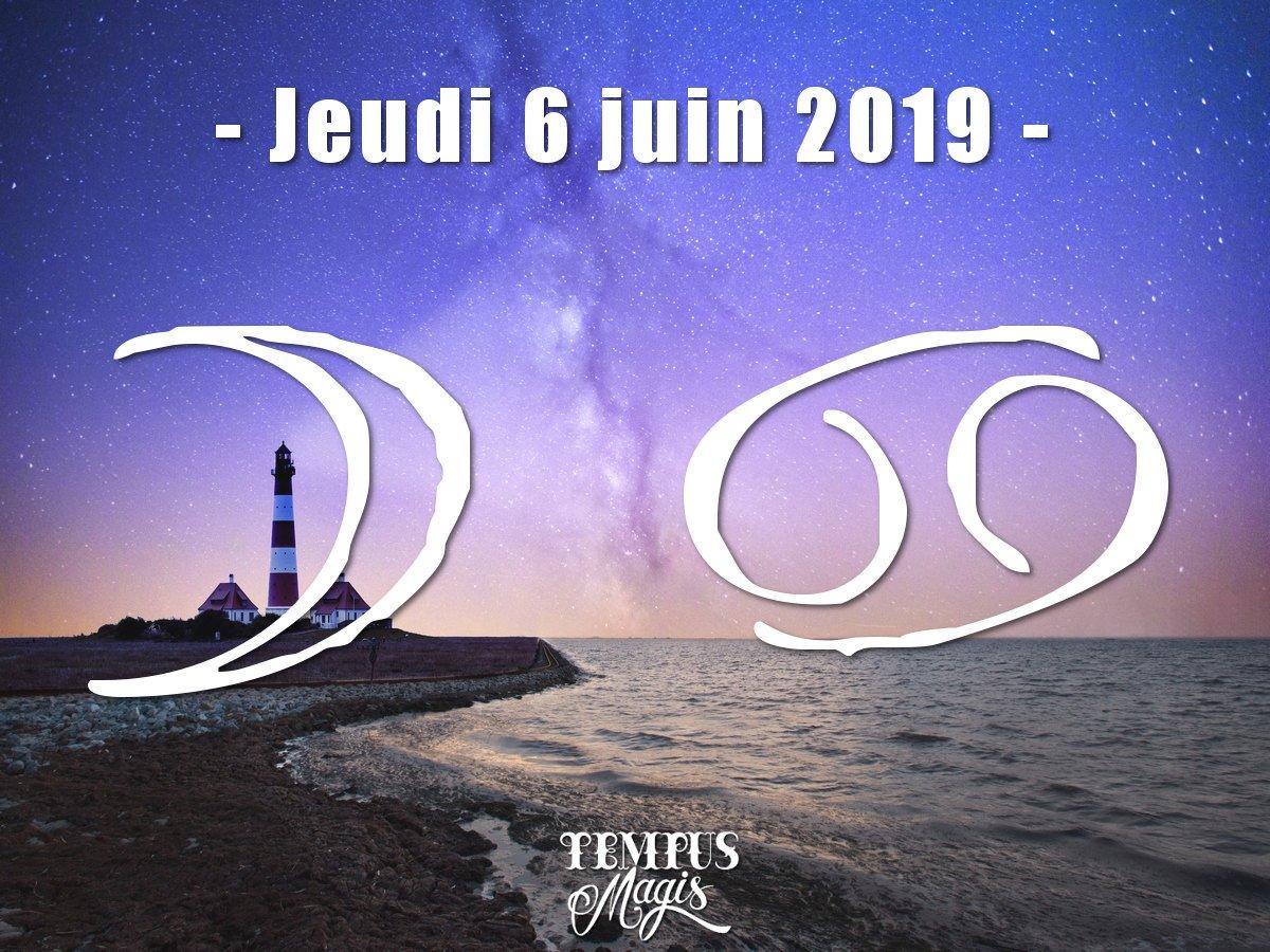 Astrologie sidérale : Lune en Cancer juin 2019