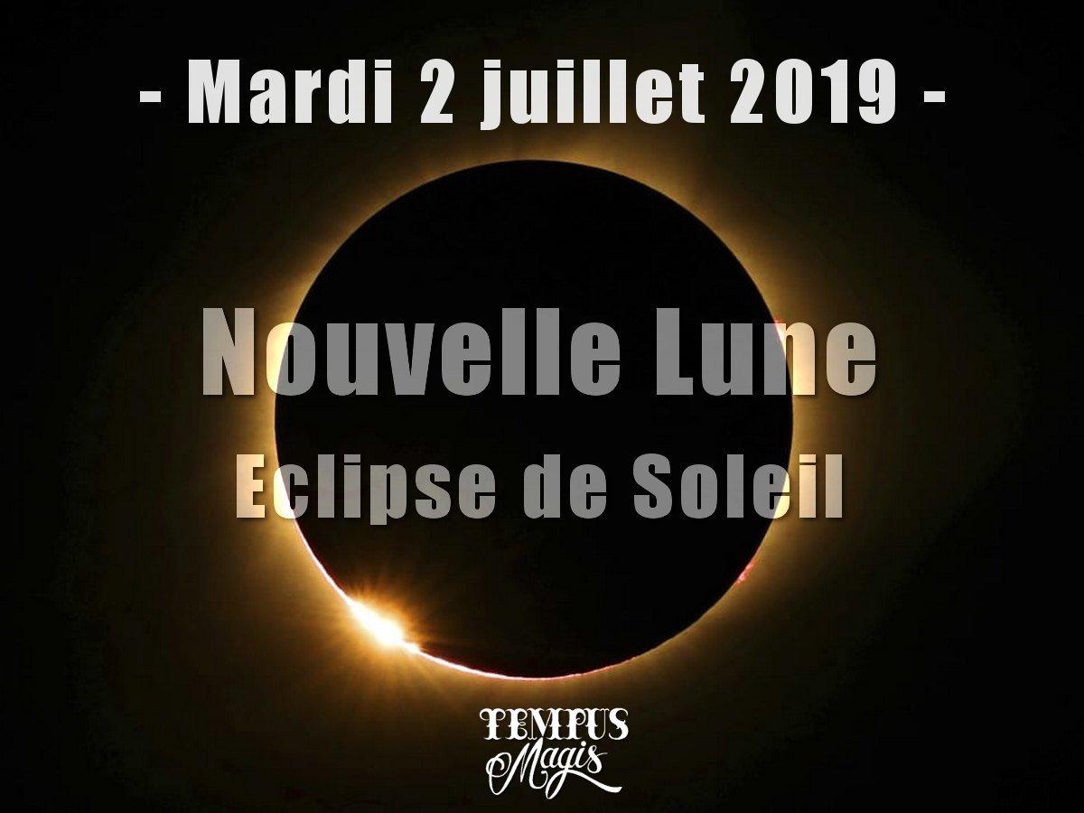 Eclipse de Soleil du mois de juillet 2019
