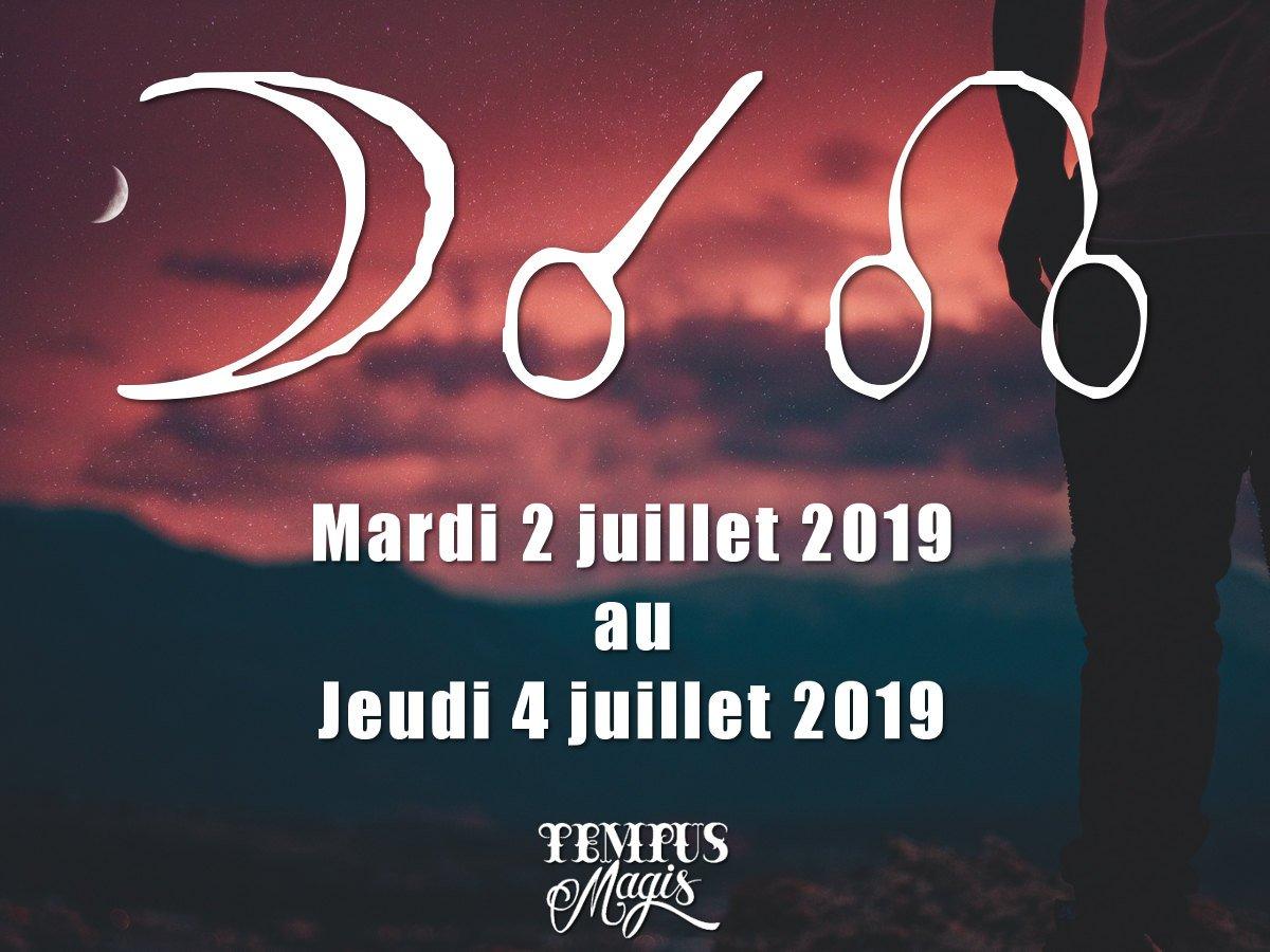 Conjonction Lune / Noeud lunaire Nord - Juillet 2019
