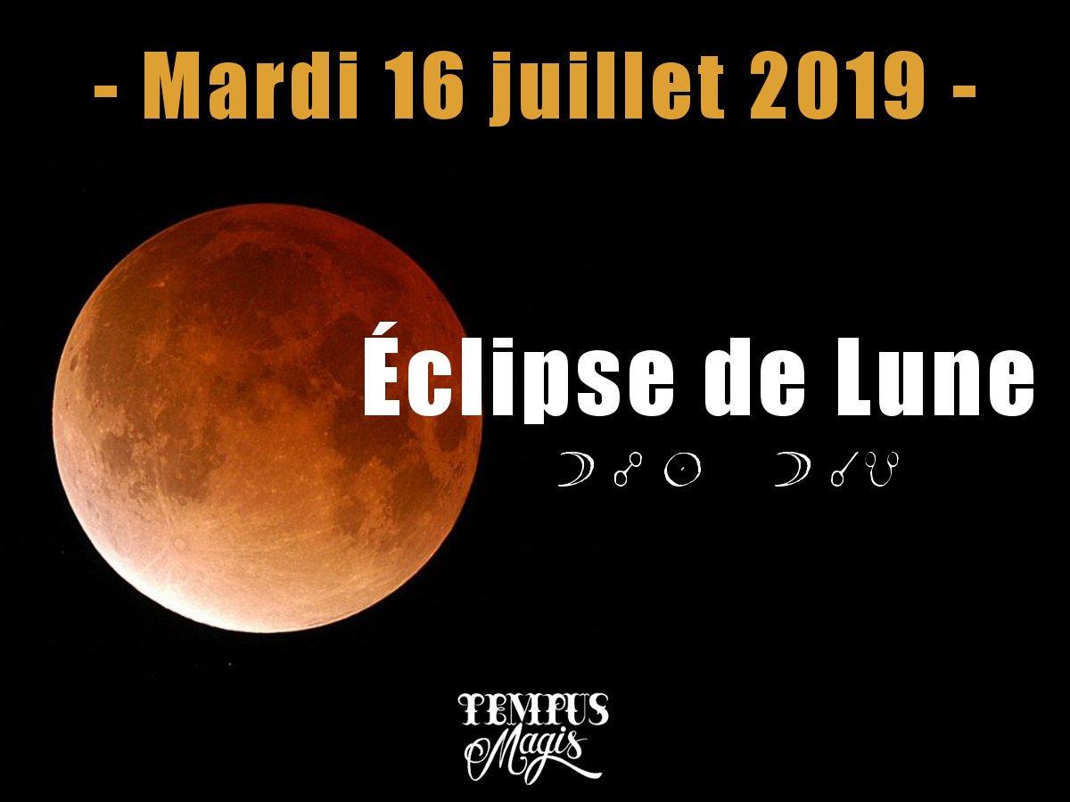 Eclipse de Lune du mois de juillet 2019