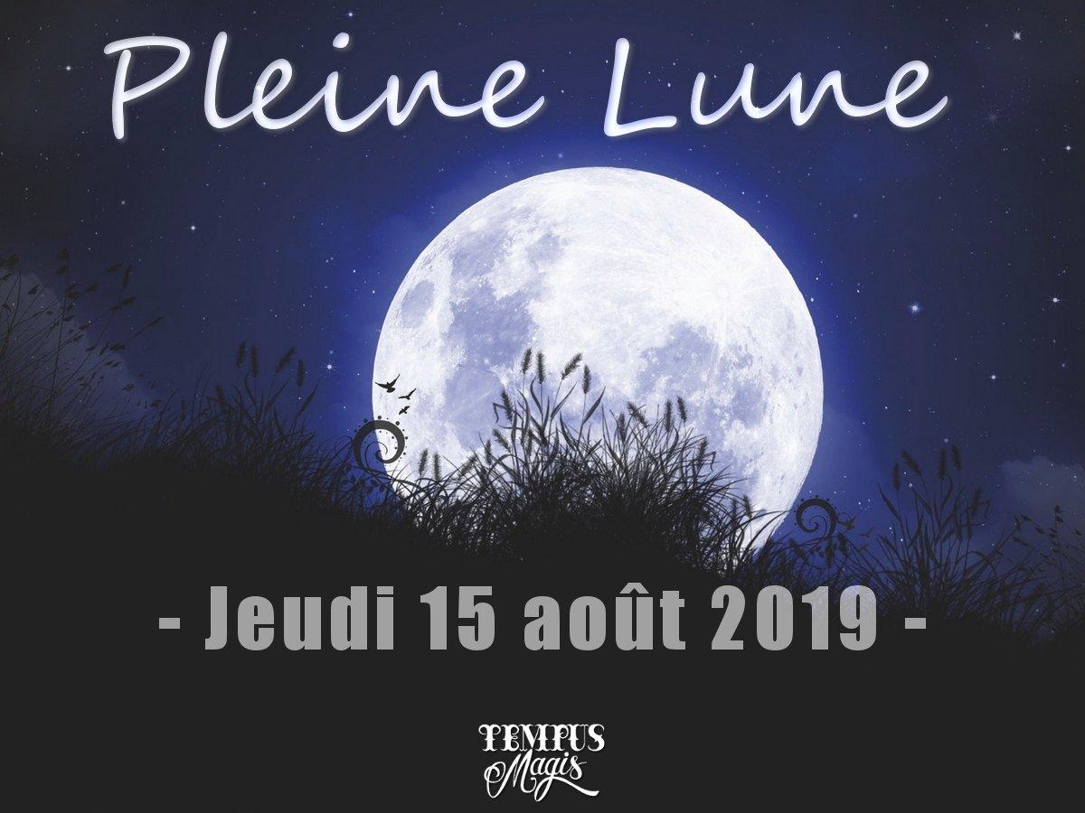 Pleine Lune du mois d'août 2019