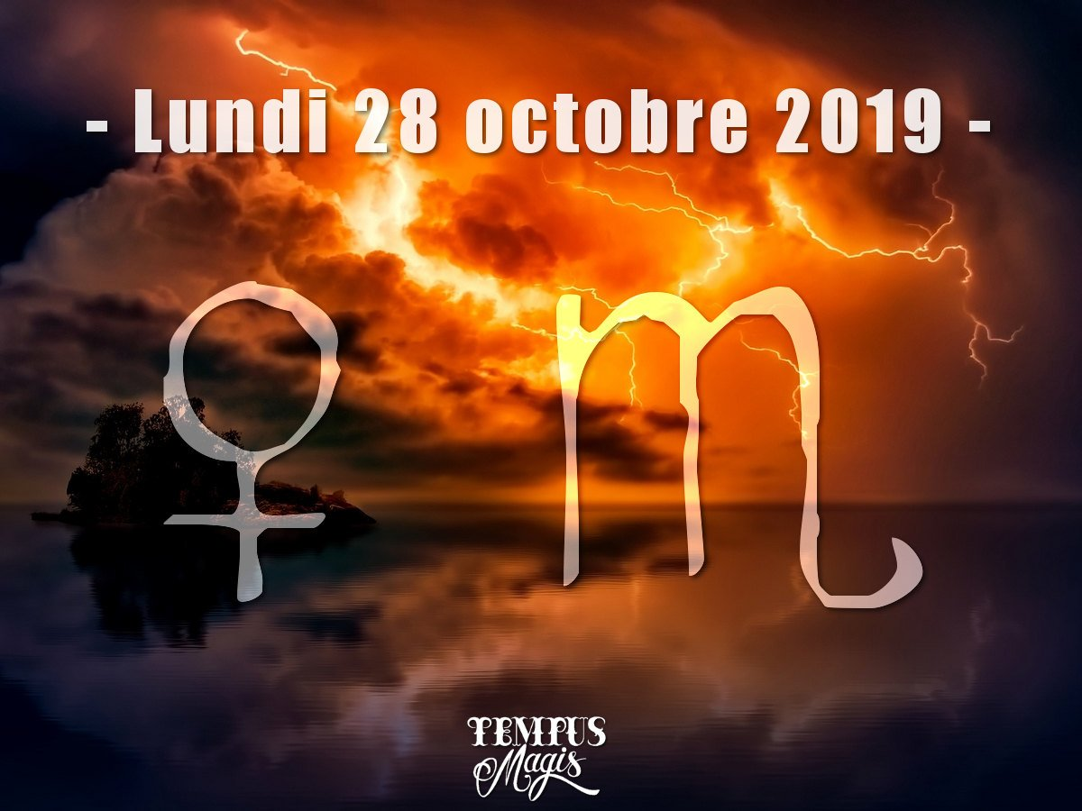 Vénus en Scorpion octobre 2019