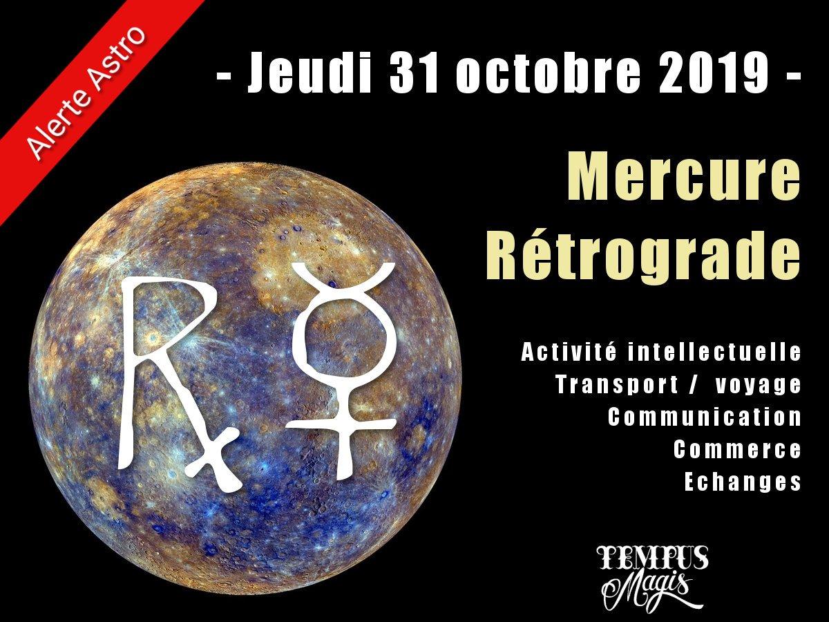 Mercure rétrograde octobre 2019