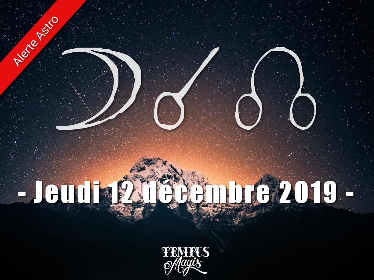 Conjonction Lune / Noeud lunaire Nord : Décembre 2019