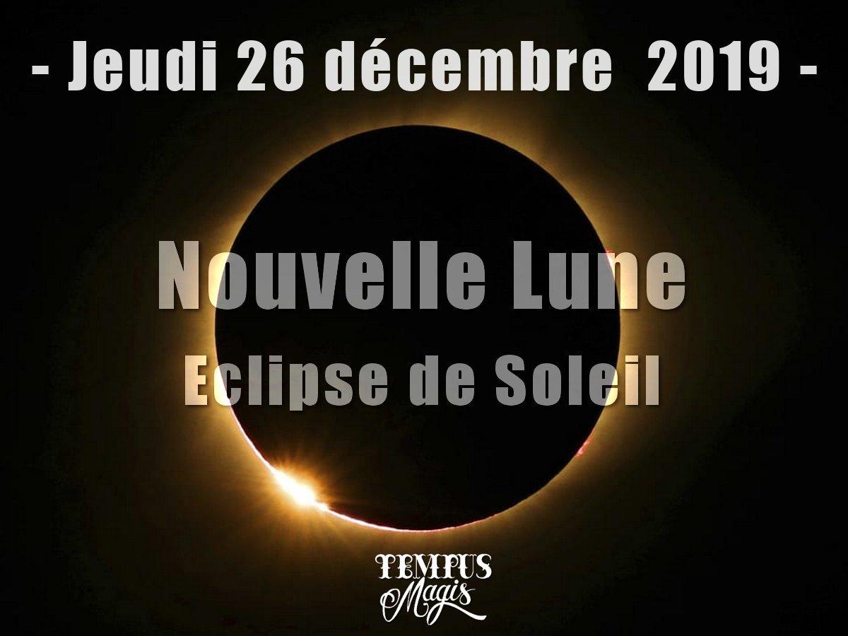 Nouvelle lune et Eclipse solaire décembre 2019