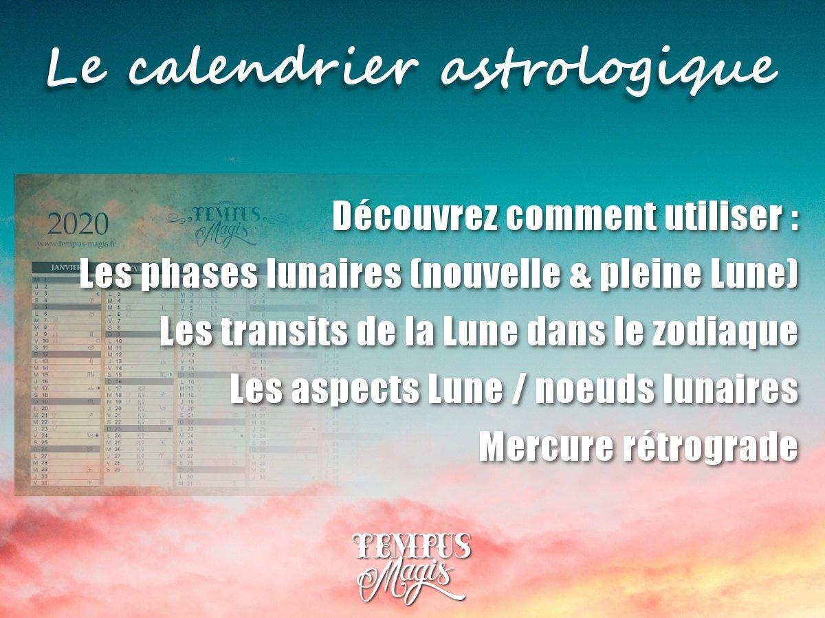 Calendrier astrologiques 2020