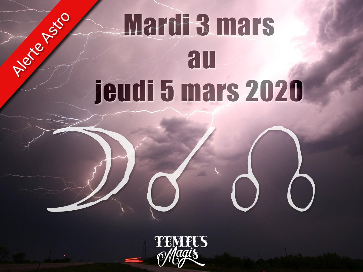 Conjonction Lune / Noeud lunaire Nord mars 2020