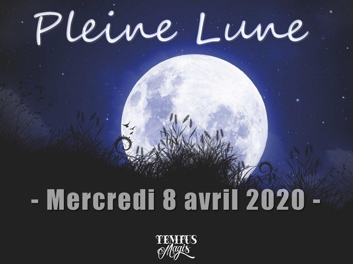 Pleine Lune et Super Lune 8 avril 2020