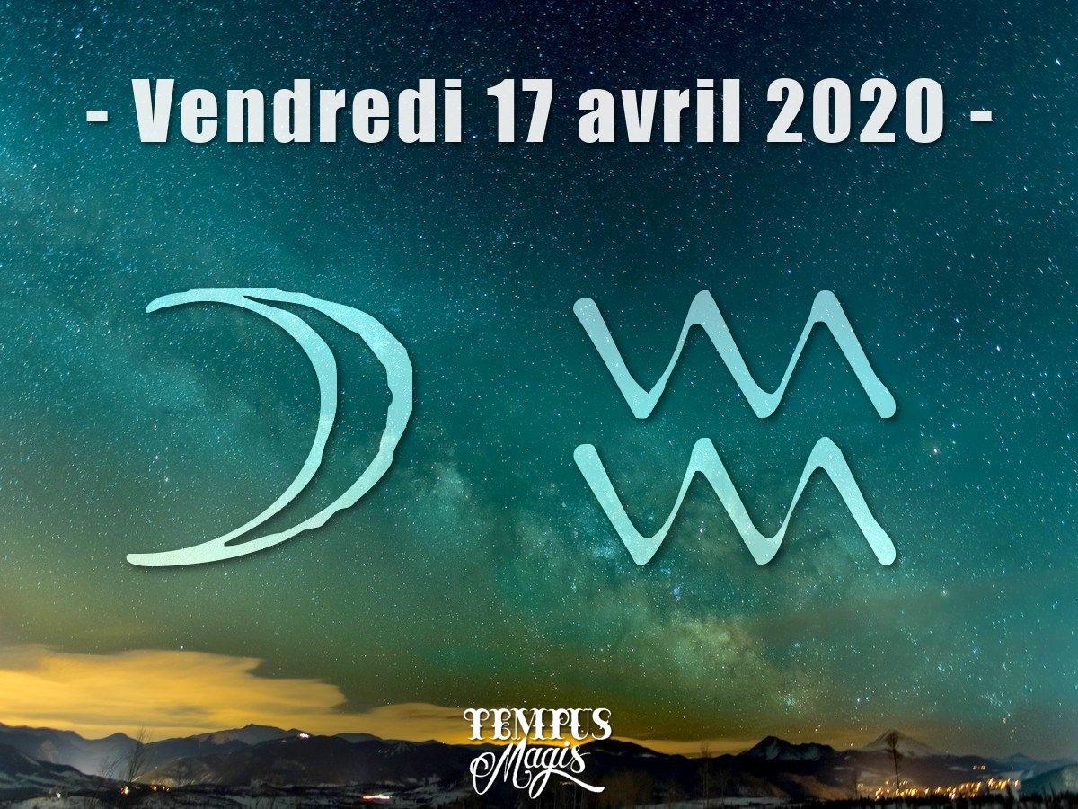 Astrologie sidérale :Lune en Verseau avril 2020