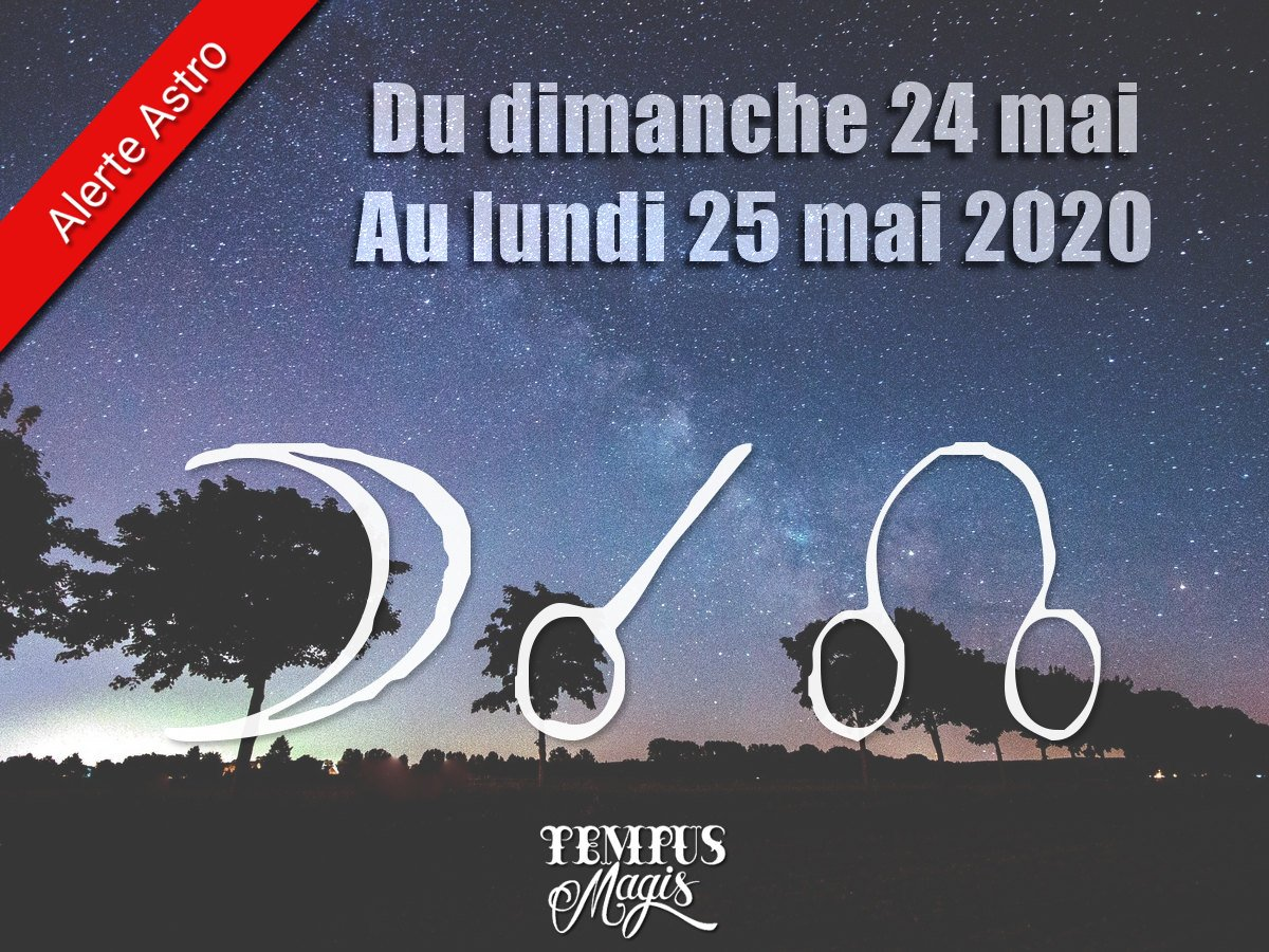 Conjonction Lune / Noeud lunaire Nord mai 2020