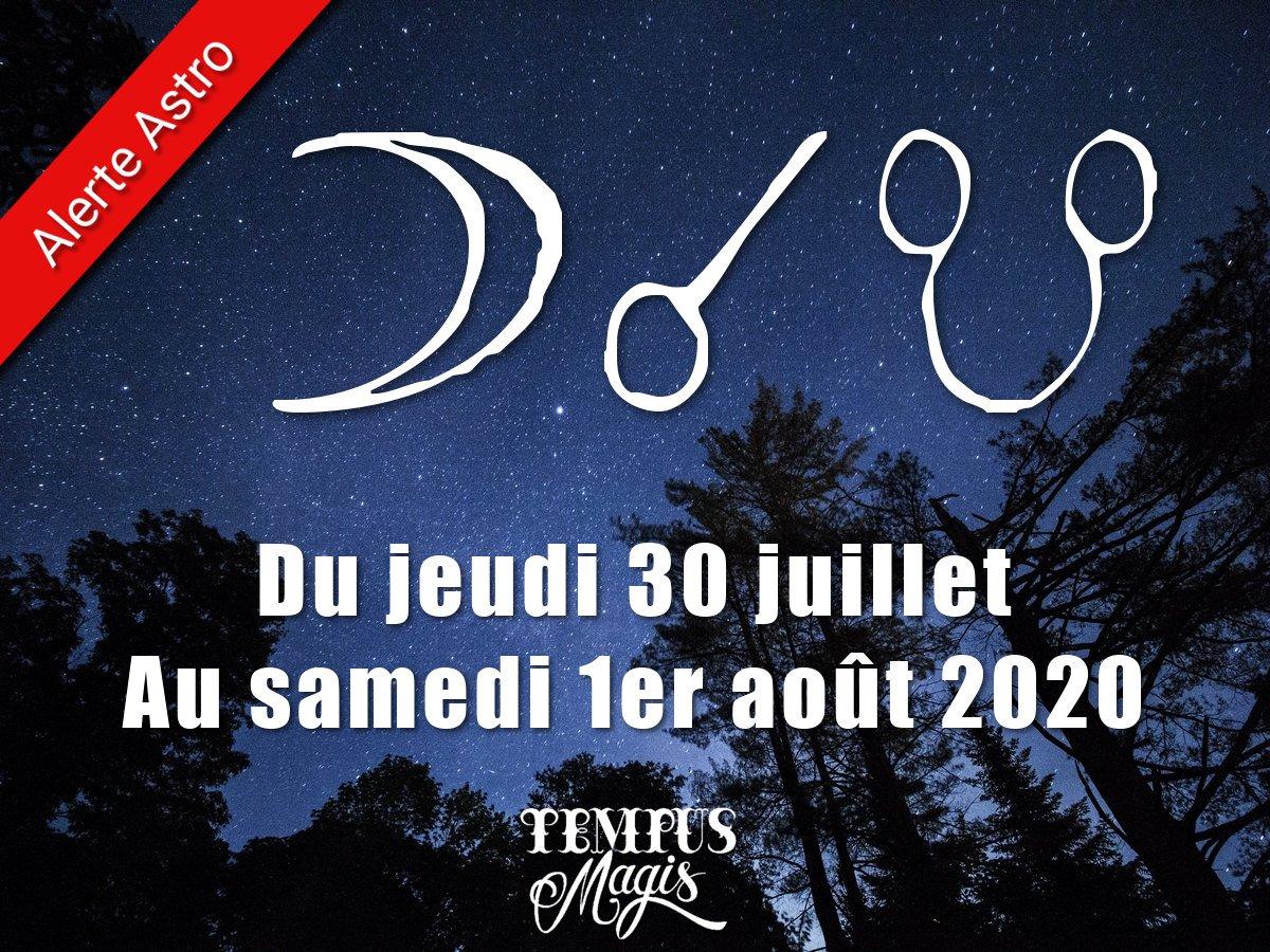 Conjonction Lune / Noeud lunaire Sud juillet 2020