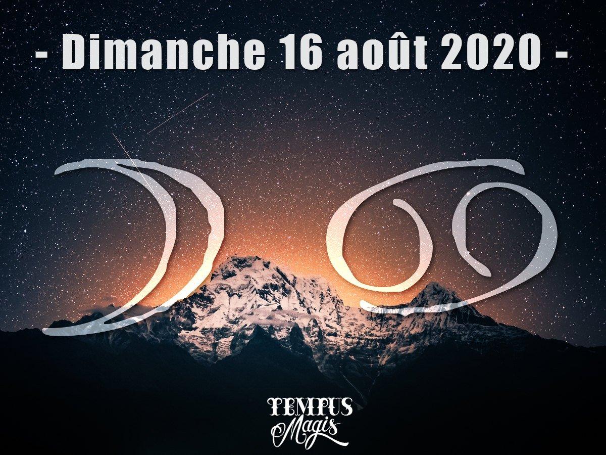 Astrologie sidérale : Lune en Cancer aout 2020
