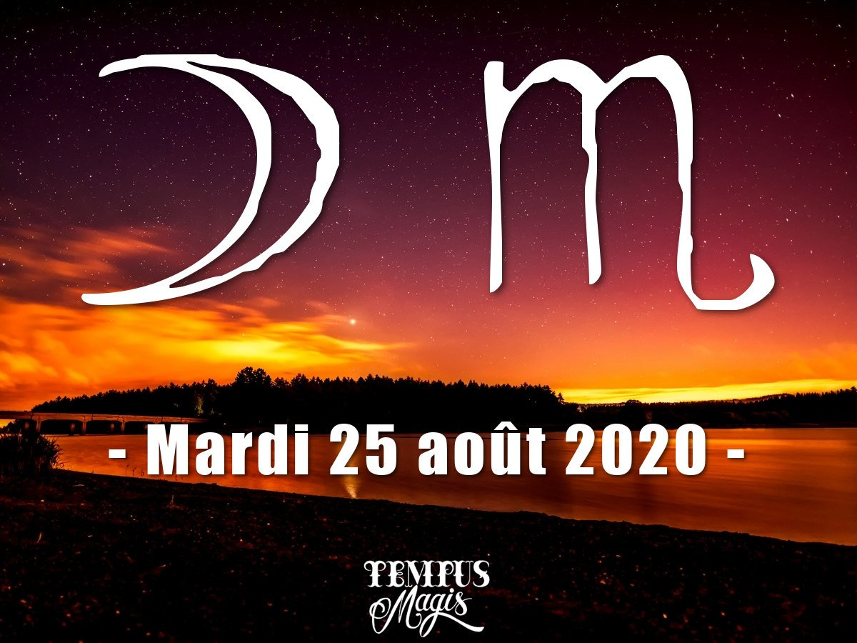 Astrologie sidérale : Lune en Scorpion aout 2020