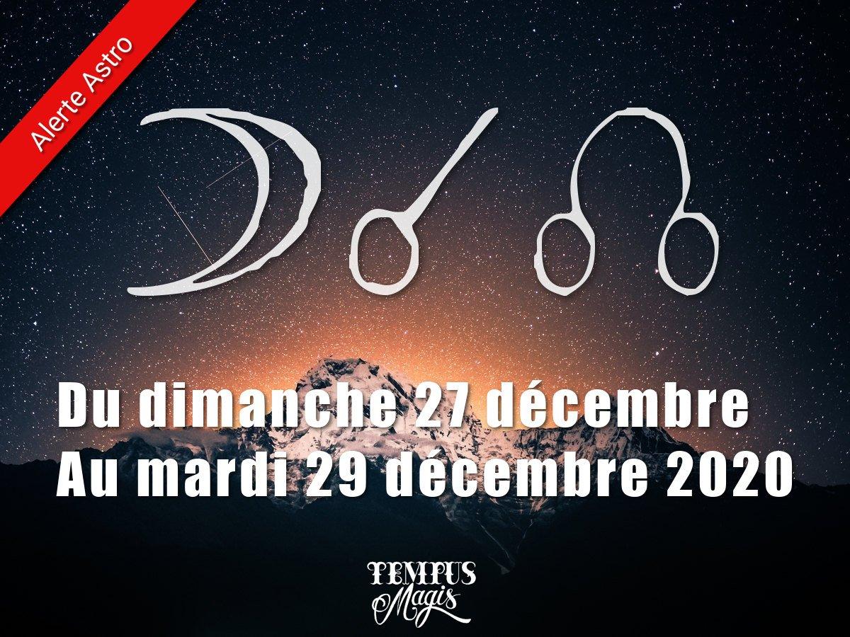 Conjonction Lune / Noeud lunaire Nord décembre 2020