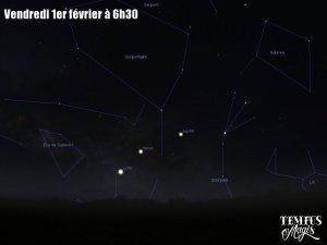 Observation Lune - Vénus - Jupiter (1/02/2019)