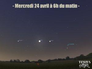 Observation conjonction Lune / Jupiter (24/04/2019)