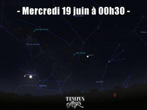 Observation conjonction Lune / Saturne (19/06/2019)