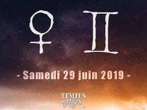 Vénus en Gémeaux (29/06/2019)