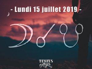 Conjonction Lune / Noeud lunaire Sud (15/07/2019)