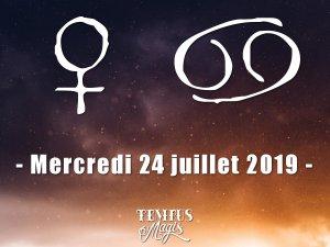 Vénus entre en Cancer (24/07/2019)