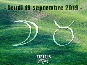 Lune en Taureau (19/09/2019)