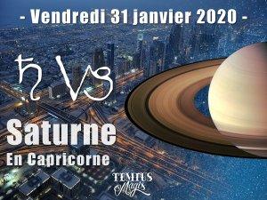 Transit de Saturne en Capricorne (31/01/2020)