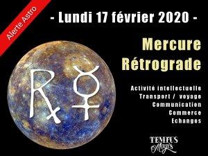 Mercure rétrograde février 2020