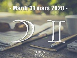 Lune en Gémeaux (31/03/2020)