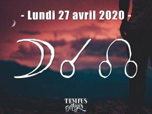 Conjonction Lune / Noeud lunaire Nord (27/04/2020)