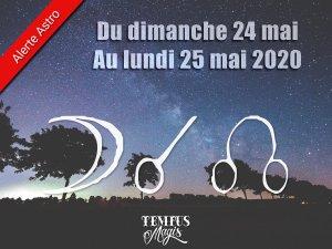 Conjonction Lune / Noeud lunaire Nord (24/05/2020)