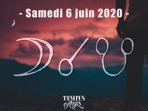 Conjonction Lune / Noeud lunaire Sud (6/06/2020)