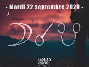 Conjonction Lune / Noeud lunaire Sud (22/09/2020)