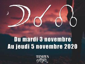 Conjonction Lune / Noeud lunaire Nord (03/11/2020)