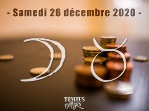 Lune en Taureau (26/12/2020)